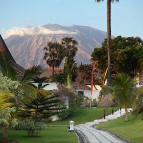 1_Siddhartha_Gardens_Pathway_Mount Agung volcano